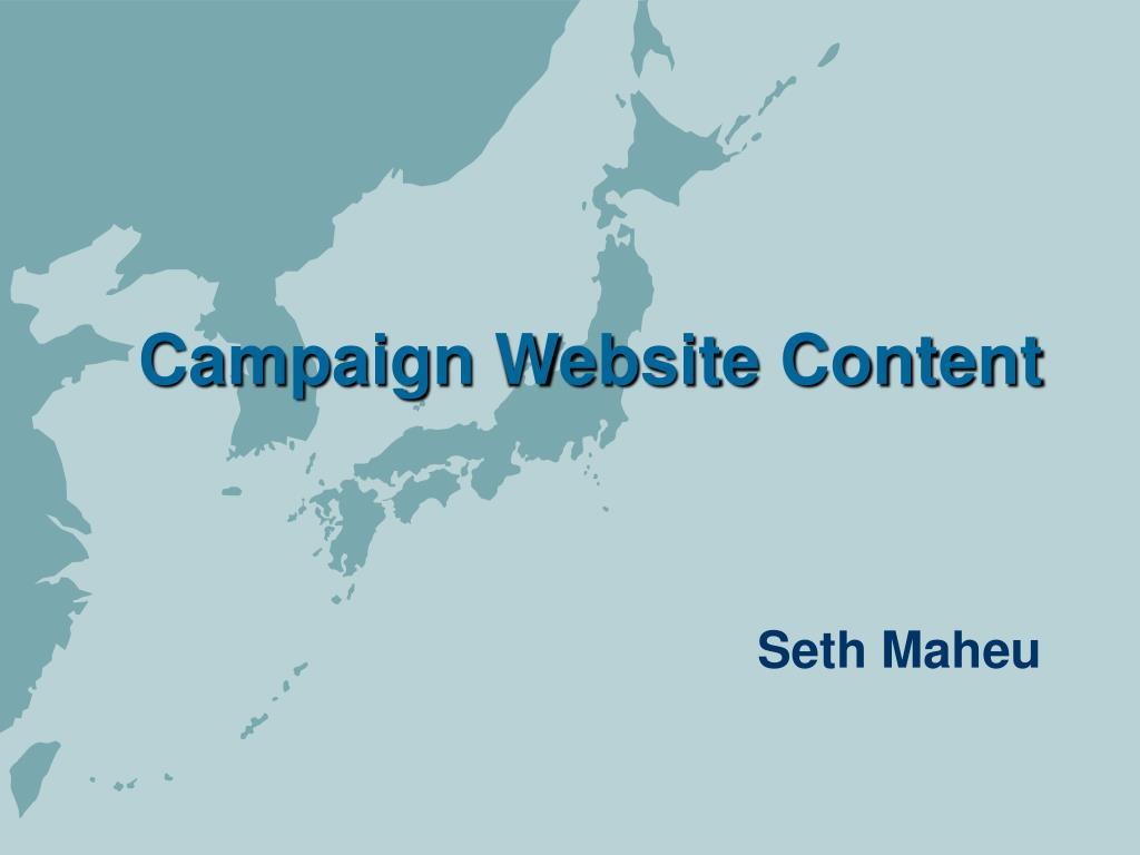 campaign website content l.