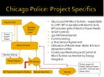 chicago police project specifics