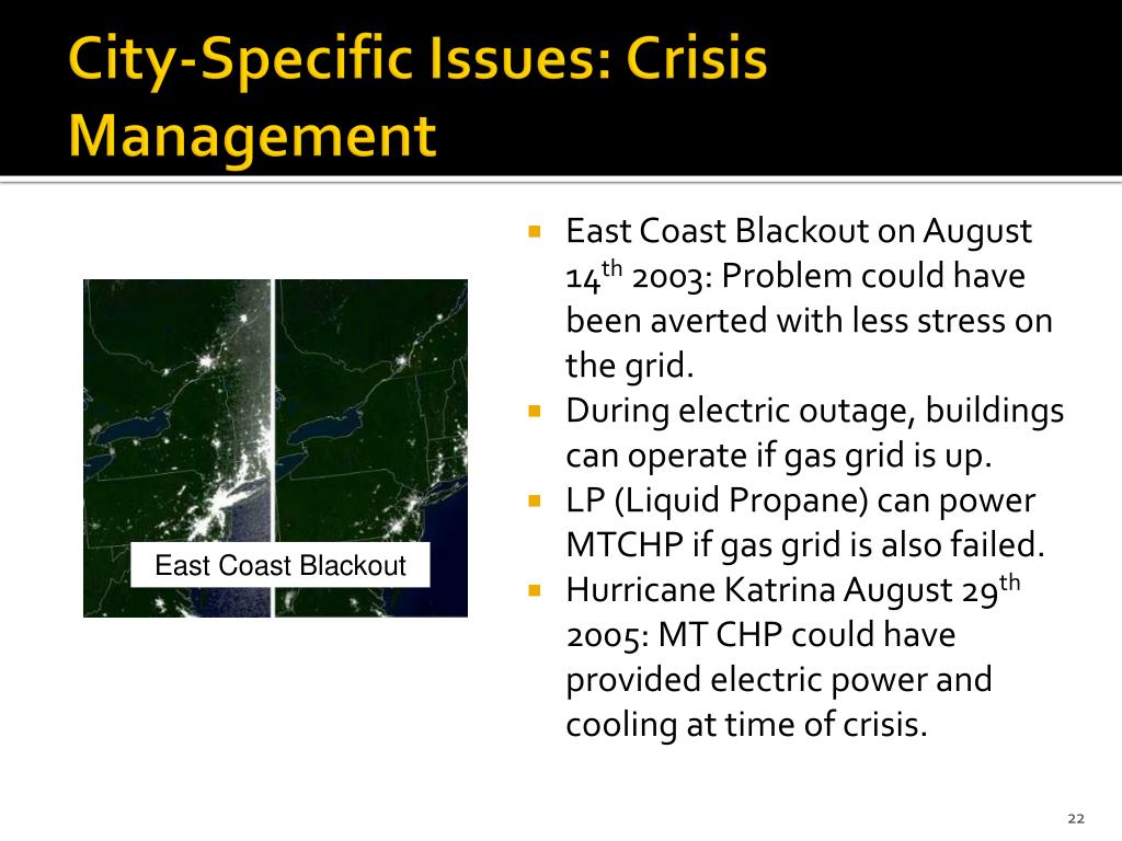 City-Specific Issues: Crisis Management