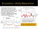 economics utility natural gas