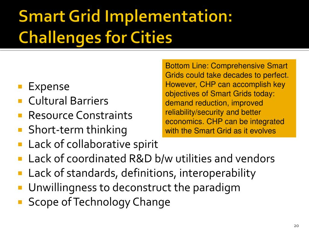 Smart Grid Implementation: Challenges for Cities