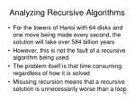 analyzing recursive algorithms19