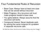 four fundamental rules of recursion