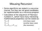 misusing recursion
