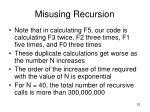 misusing recursion23