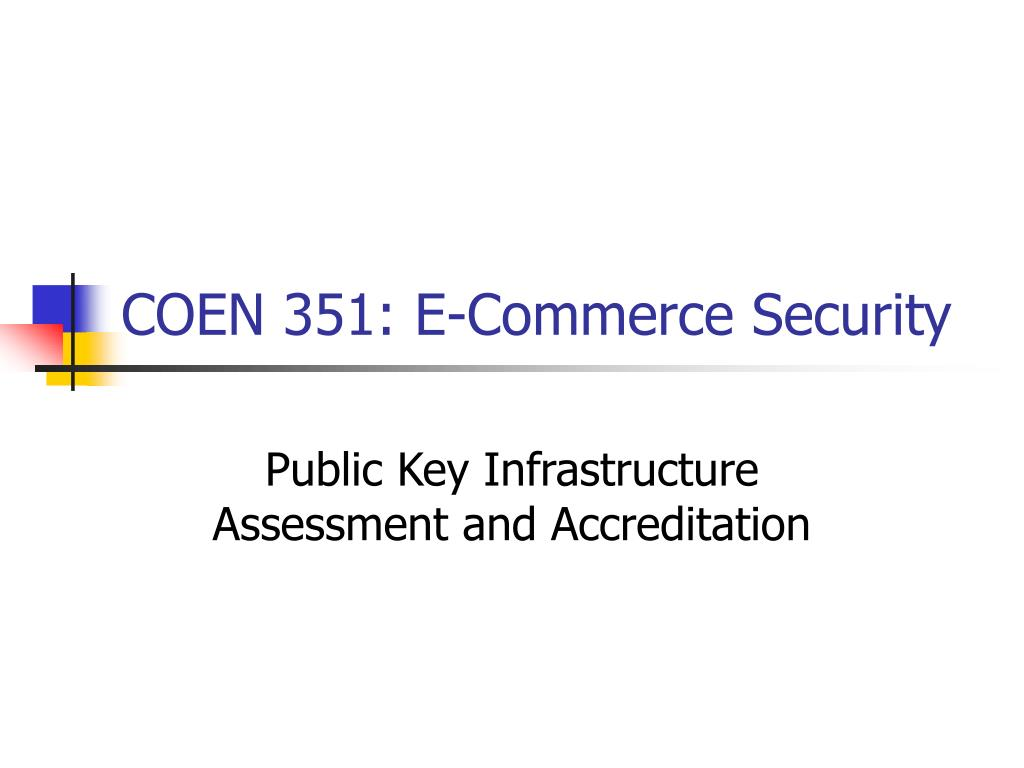 coen 351 e commerce security l.