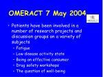 omeract 7 may 200430