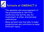 patients at omeract 626