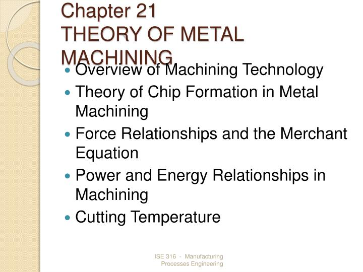 chapter 21 theory of metal machining n.