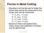 forces in metal cutting