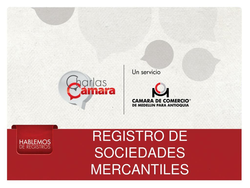 registro de sociedades mercantiles l.