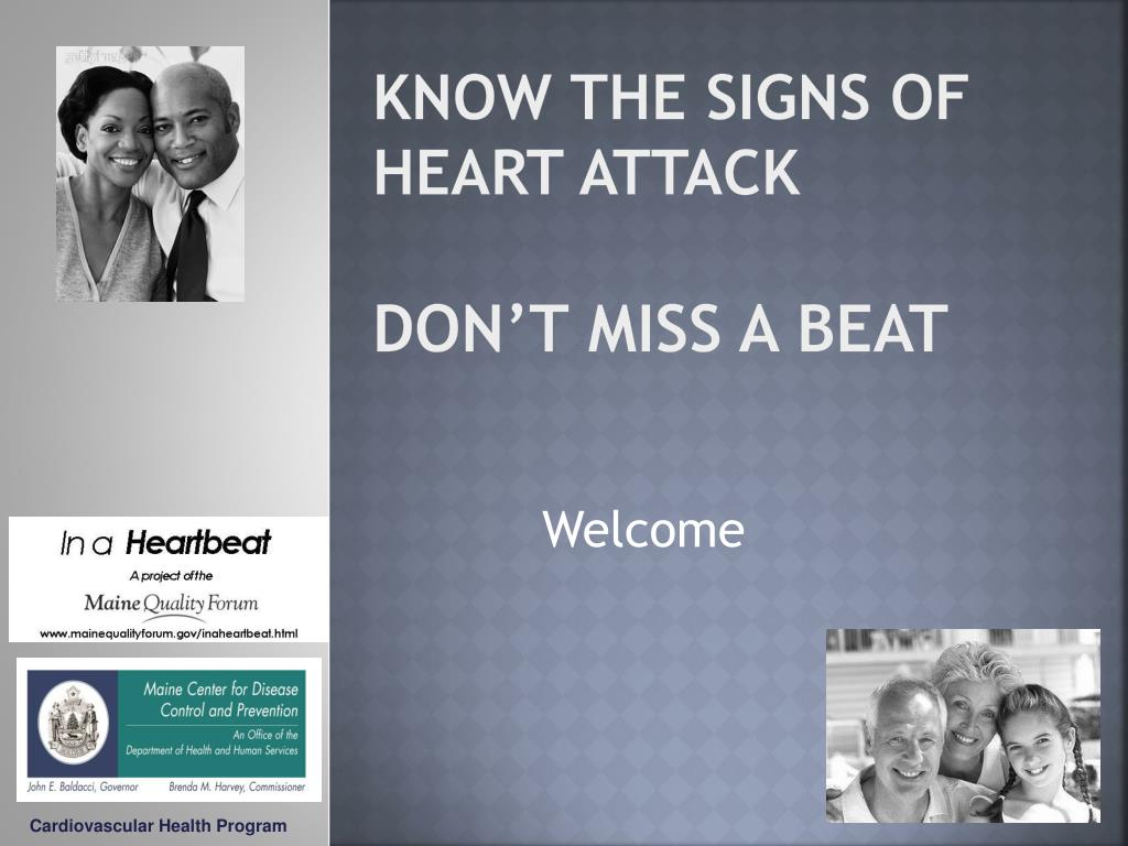know the signs of heart attack don t miss a beat l.