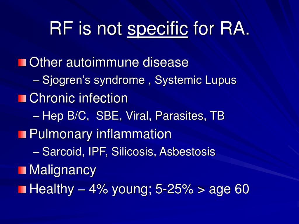 RF is not