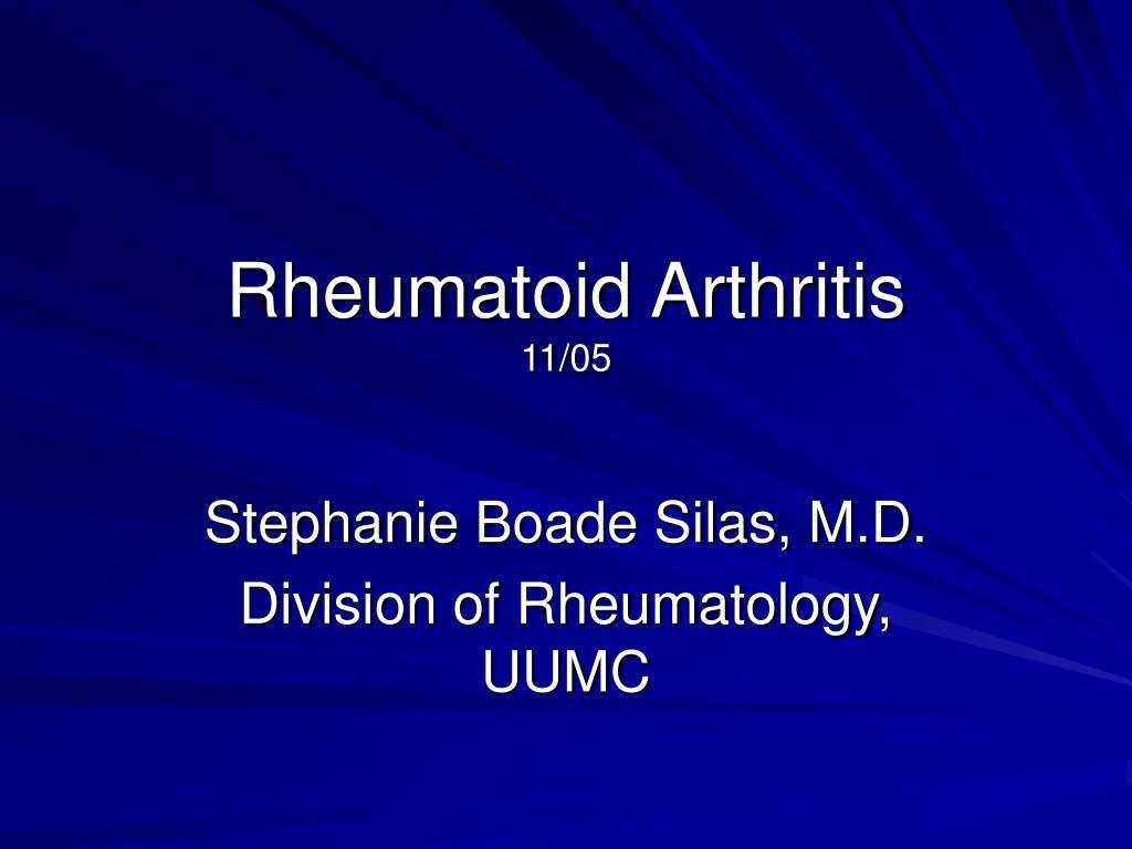 rheumatoid arthritis 11 05 l.