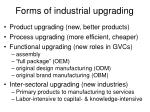forms of industrial upgrading