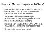 how can mexico compete with china