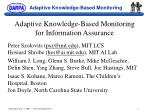 adaptive knowledge based monitoring for information assurance