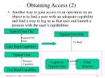 obtaining access 2