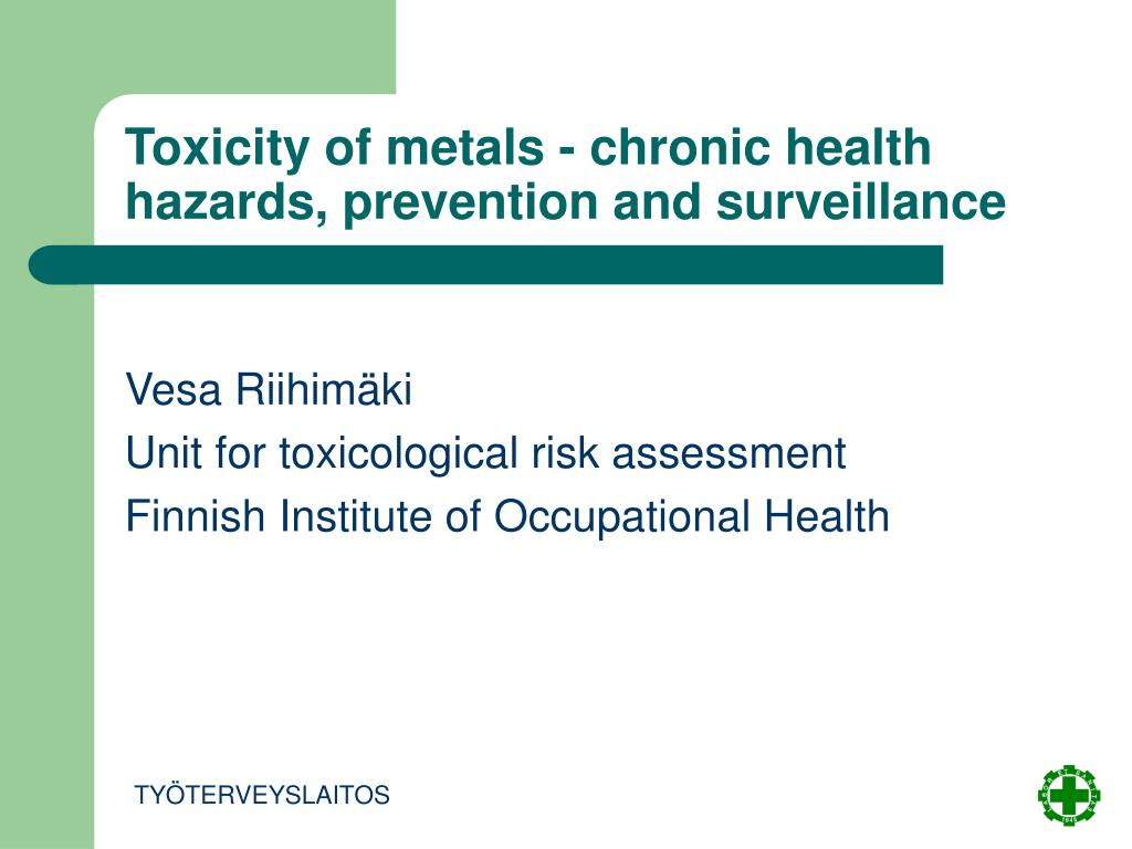 toxicity of metals chronic health hazards prevention and surveillance l.