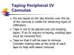taping peripheral iv cannulae