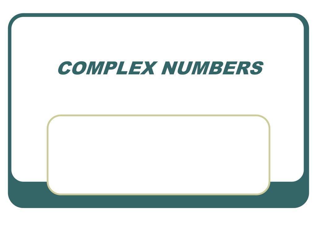 complex numbers l.