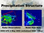 precipitation structure