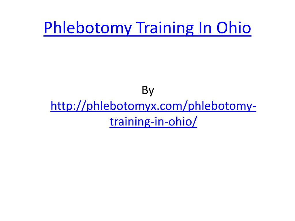 phlebotomy training in ohio l.