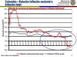 colombia relaci n inflaci n sectorial e inflaci n total