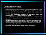 consistency cotd