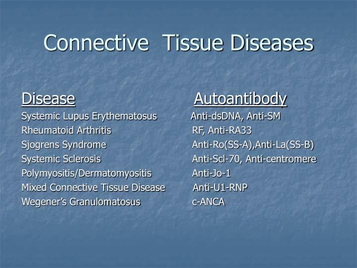 Connective tissue diseases3