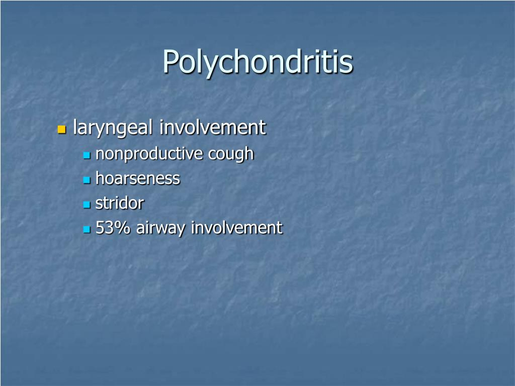 Polychondritis