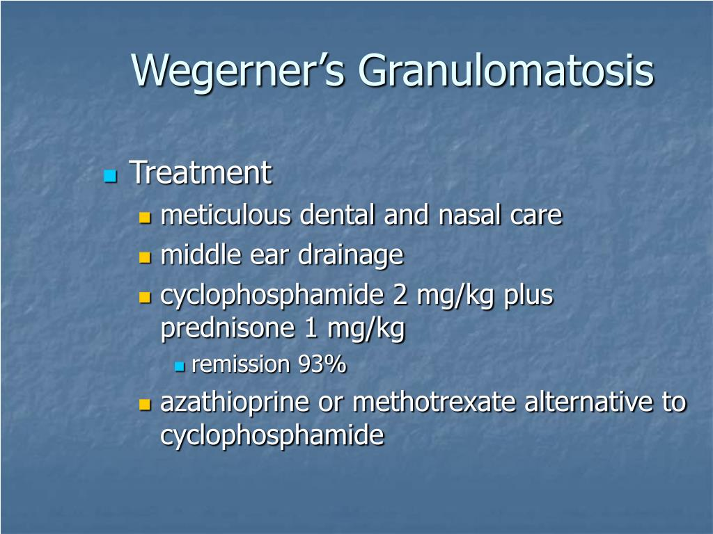 Wegerner's Granulomatosis