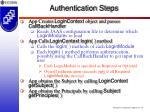 authentication steps