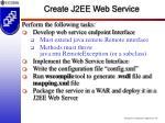 create j2ee web service