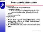 form based authentication