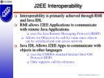 j2ee interoperability