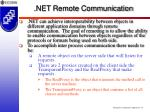 net remote communication