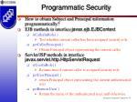 programmatic security