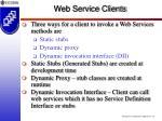 web service clients