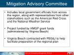 mitigation advisory committee