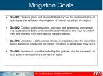 mitigation goals