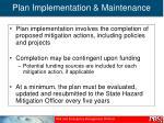 plan implementation maintenance