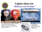 lighter than air balloons and airships