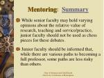 mentoring summary42