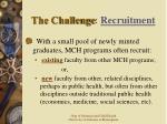 the challenge recruitment