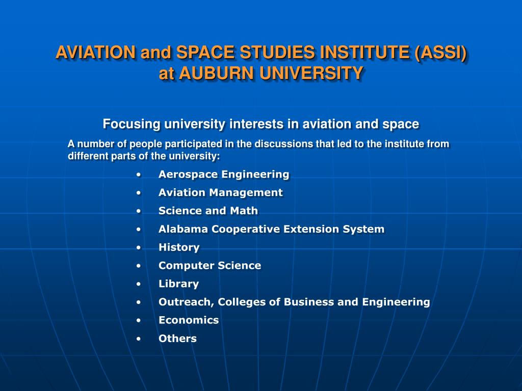 AVIATION and SPACE STUDIES INSTITUTE (ASSI)
