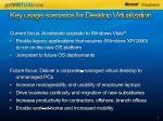 key usage scenarios for desktop virtualization