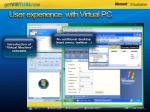 user experience with virtual pc
