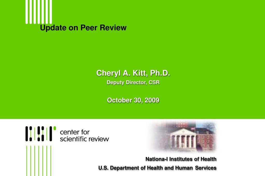 update on peer review l.