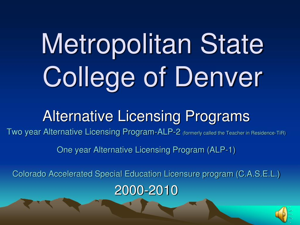 metropolitan state college of denver l.
